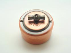 PETRUCCI выключатель поворотный четырёхпозиционный, медь