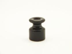 Изолятор фарфоровый, чёрный