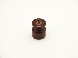 Изолятор фарфоровый, коричневый
