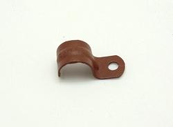 Скоба однолапковая окрашенная 18 мм, цвет марс