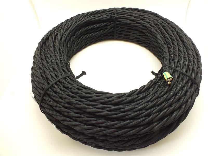 ПРВ провод витой 3 x 1,5 чёрный
