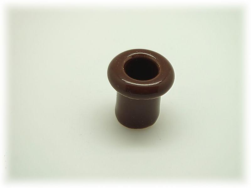 Втулка проходная фарфоровая, коричневая